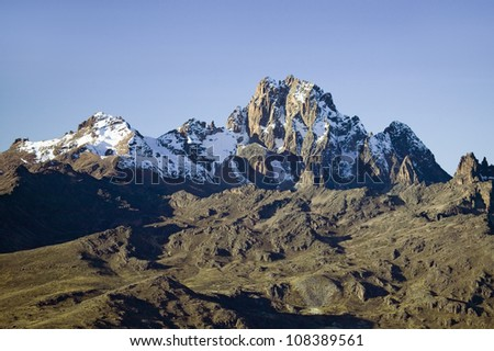 Aerial view of Mount Kenya, Africa