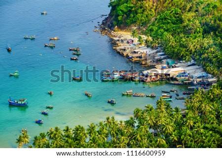 Aerial view of Nam Du island, Kien Giang, Vietnam. Near Phu Quoc island