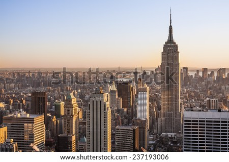 Aerial view of New York city in the USA. #237193006