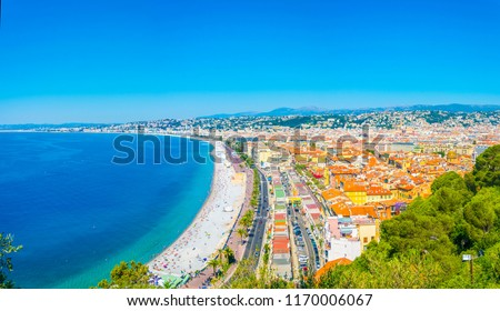 Aerial view of Nice, France #1170006067