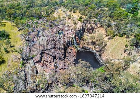 Aerial view of Nigretta Falls in Victoria, Australia Stock photo ©