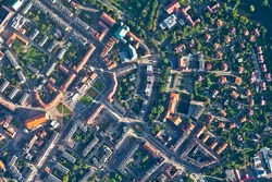 aerial view of  Nysa city in Poland