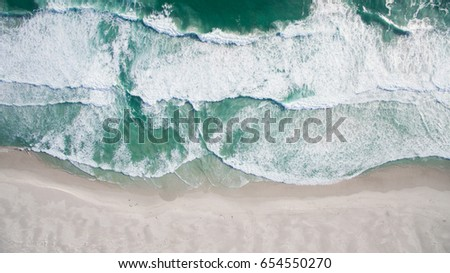 Aerial view of ocean shore #654550270
