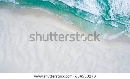 Aerial view of ocean shore #654550273
