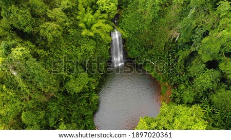 Aerial view of Pasy or Pa Sy waterfalls in Mang Den, Kon Tum province, Vietnam. Nature and travel concept. Zdjęcia stock ©