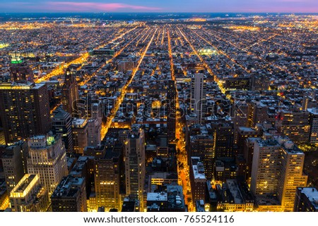 Aerial view of Philadelphia with city streets converging towards the edge of the metropolitan area #765524116