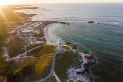 Aerial view of Pinky's Beach, Rottnest Island