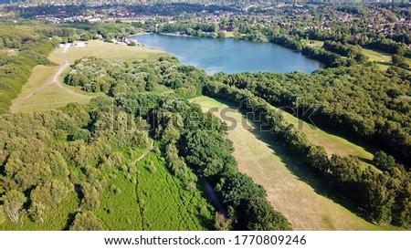 Aerial view of Powell`s Pool in Sutton park Birmingham England Stock fotó ©