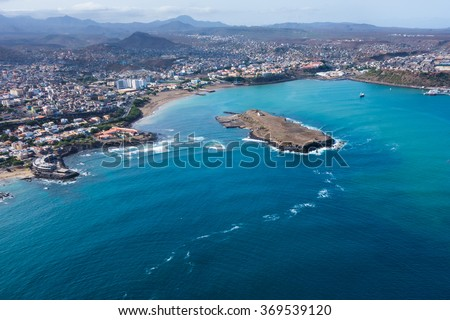 Shutterstock Aerial view of Praia city in Santiago - Capital of Cape Verde Islands - Cabo Verde