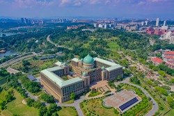 Aerial View Of Prime Minister Department Complex Putrajaya With Garden Concept
