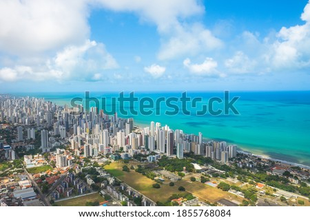 Aerial view of Recife city, capital of the Pernambuco State - Brazil Foto stock ©