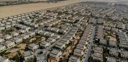 Aerial view of residential compound in Dubai