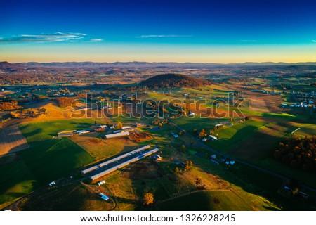 Aerial view of rich farmland #1326228245