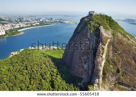 Aerial view of Rio De Janeiro and Sugarloaf Mountain