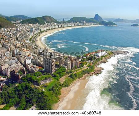 Aerial view of Rio De Janeiro's Beaches