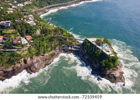 Aerial View of Rio De Janeiro's Stunning Coast - stock photo