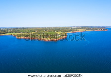 Aerial view of Rocky Point, Prince Edward Island, Canada