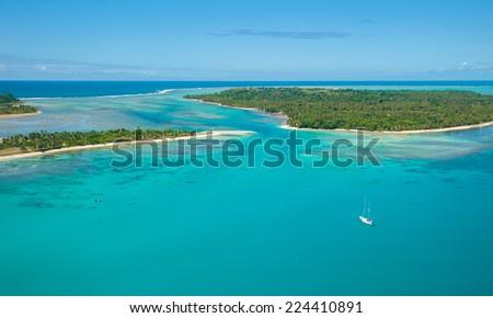 Aerial view of Saint Marie island, Madagascar