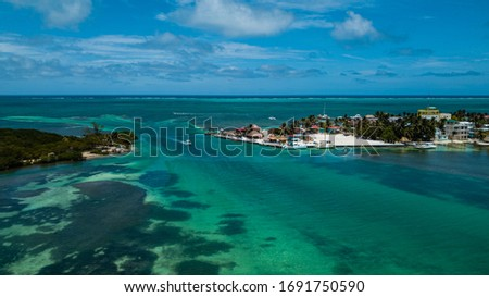 Photo of  Aerial view of San Pedro, Belize