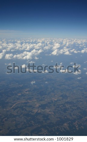 Aerial view of sky and landscape