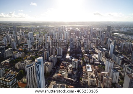 Aerial View of Skyscrapers in a Big City #405233185