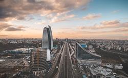 Aerial view of Sofia