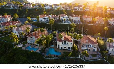 Aerial view of South Orange County's Laguna Niguel, California. Foto stock ©