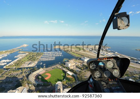 Aerial view of St. Petersburg, Florida from a helicopter