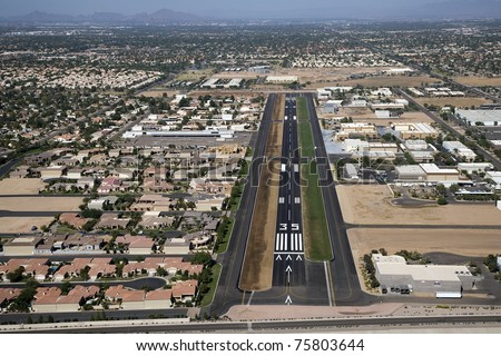 Aerial view of Stellar Airpark in Chandler, Arizona