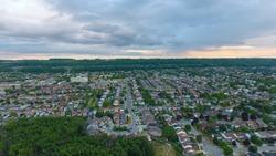 Aerial view of suburb (Stoney Creek) located in Hamilton, Ontario (Canada)