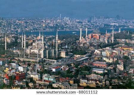 Aerial view of Sultanahmet