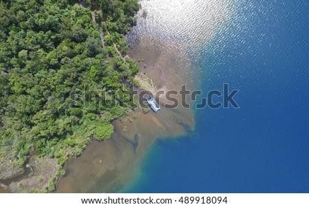 aerial view of sungai dingin ...