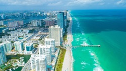 Aerial view of Sunny Isles Beach. Miami. Florida. USA.