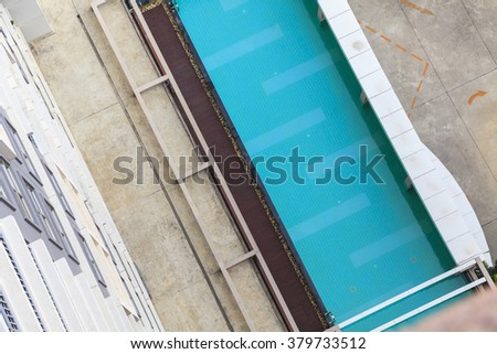 Aerial view of swimming pool #379733512