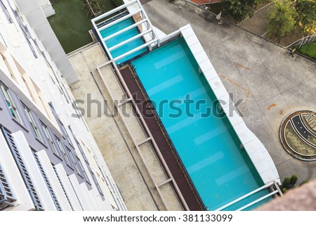 Aerial view of swimming pool #381133099