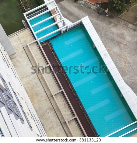 Aerial view of swimming pool #381133120