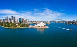 Aerial View of Sydney, Australia. Drone shot. Panorama.