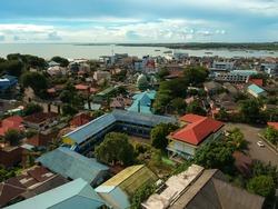 Aerial view of tanjungpinang city