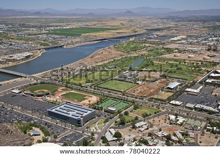 Aerial view of the Arizona State University Golf Course