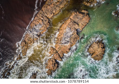 Aerial view of The Arthur River estuary, Tasmania