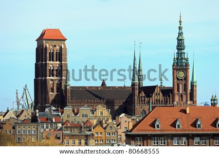Aerial view of the Basilica of St. Mary's in Gdansk, Poland. Photo taken on: March 8, 2011
