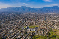 Aerial view of the beautiful Arcadia area at Los Angeles, California