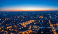 Aerial view of the beautifull city in Silesia - Bytom.