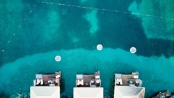 Aerial view of the Butler Lodges at Sandals Grande St Lucian in St Lucia