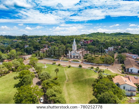Shutterstock Aerial view of the catholic church