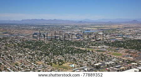 Aerial view of the City of Tempe, Arizona Skyline