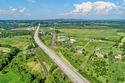 Aerial view of the countryside in York Springs, Pennsylvania