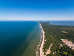 Aerial view of the Curonian Spit in summer