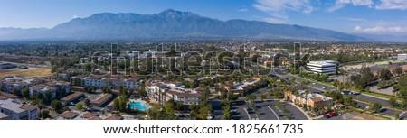 Aerial view of the downtown area of Ranacho Cucamonga, California. Сток-фото ©