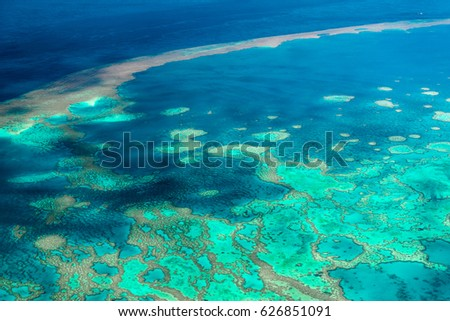 Aerial view of the Great Barrier Reef #626851091